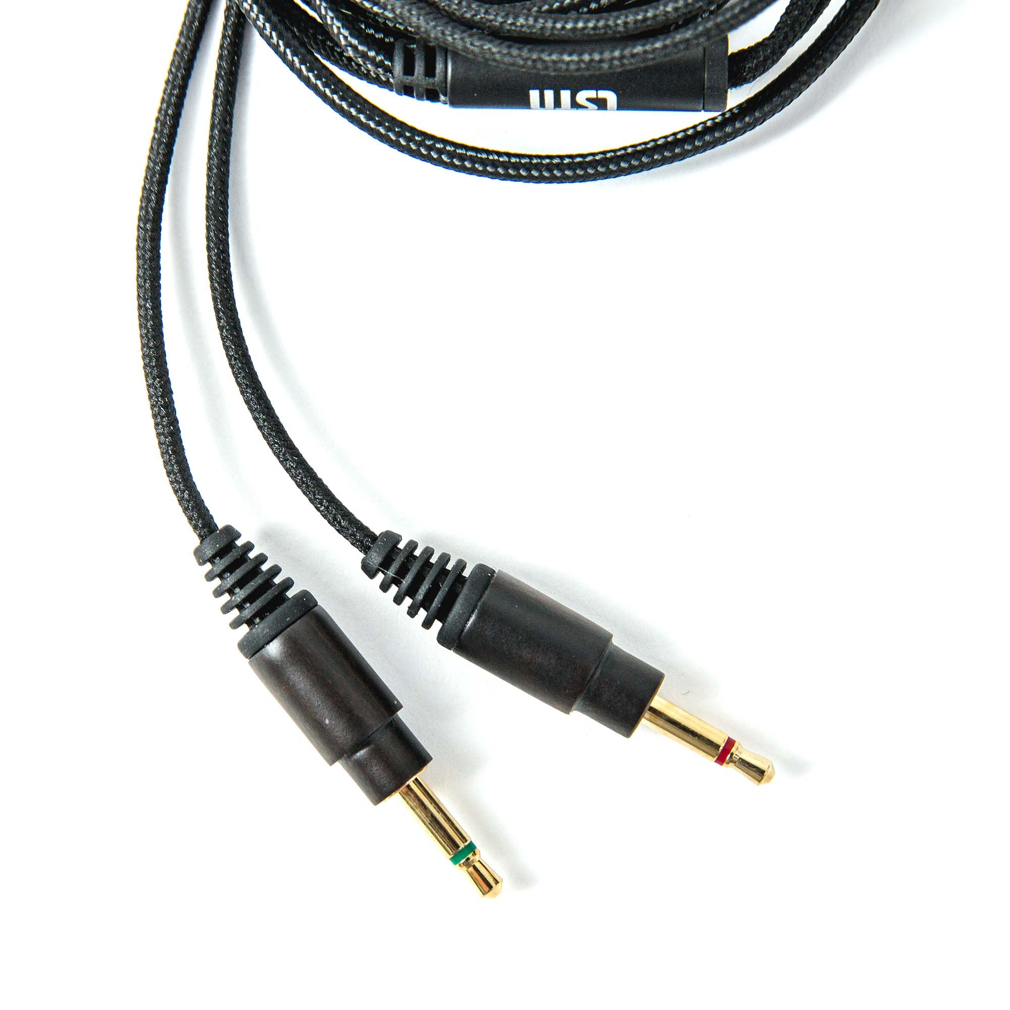 Nylon Replacement Cables w/ Volume Control for Wired Headphones - Dark Wood