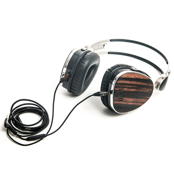 Ebony Wood Troubadour Headphones - Sample