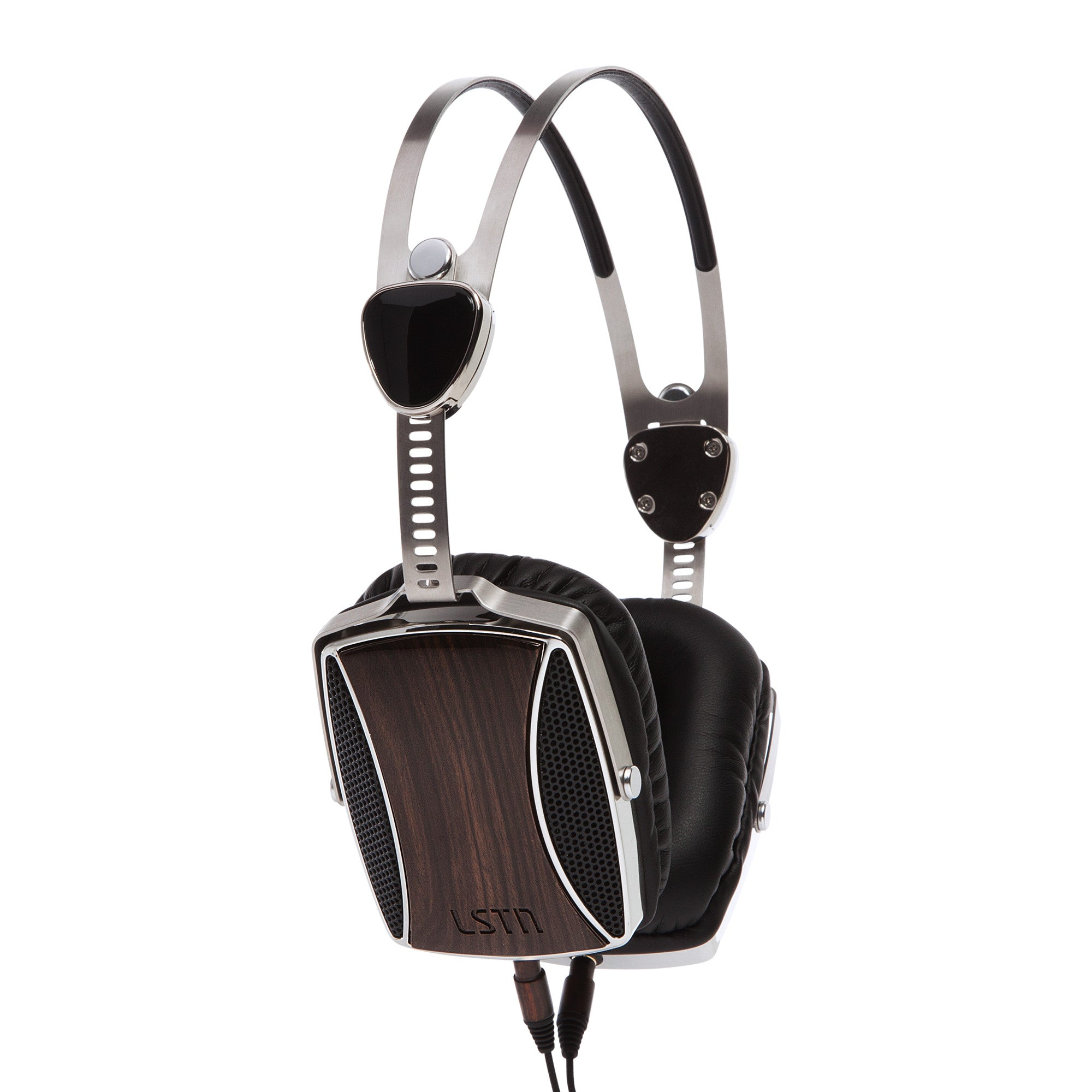 Image For LSTN Encore Real Ebony Wood Headphones with In-Line Mic