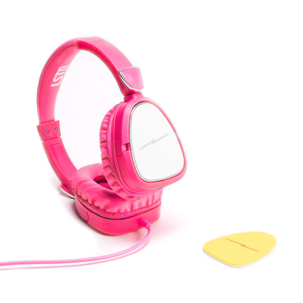 Noise-Limiting Kids Headphones in Hot Pink