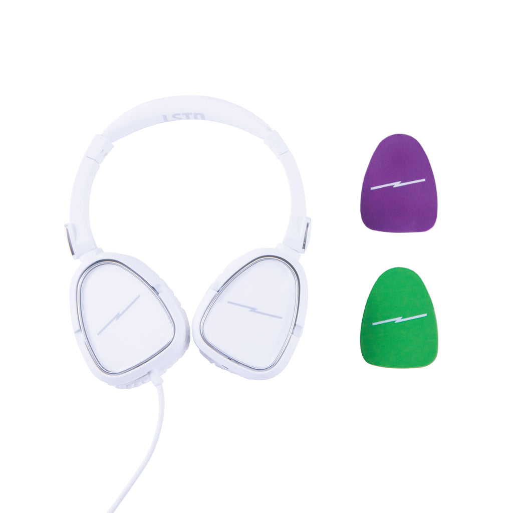 Noise-Limiting Kids Headphones in Arctic White
