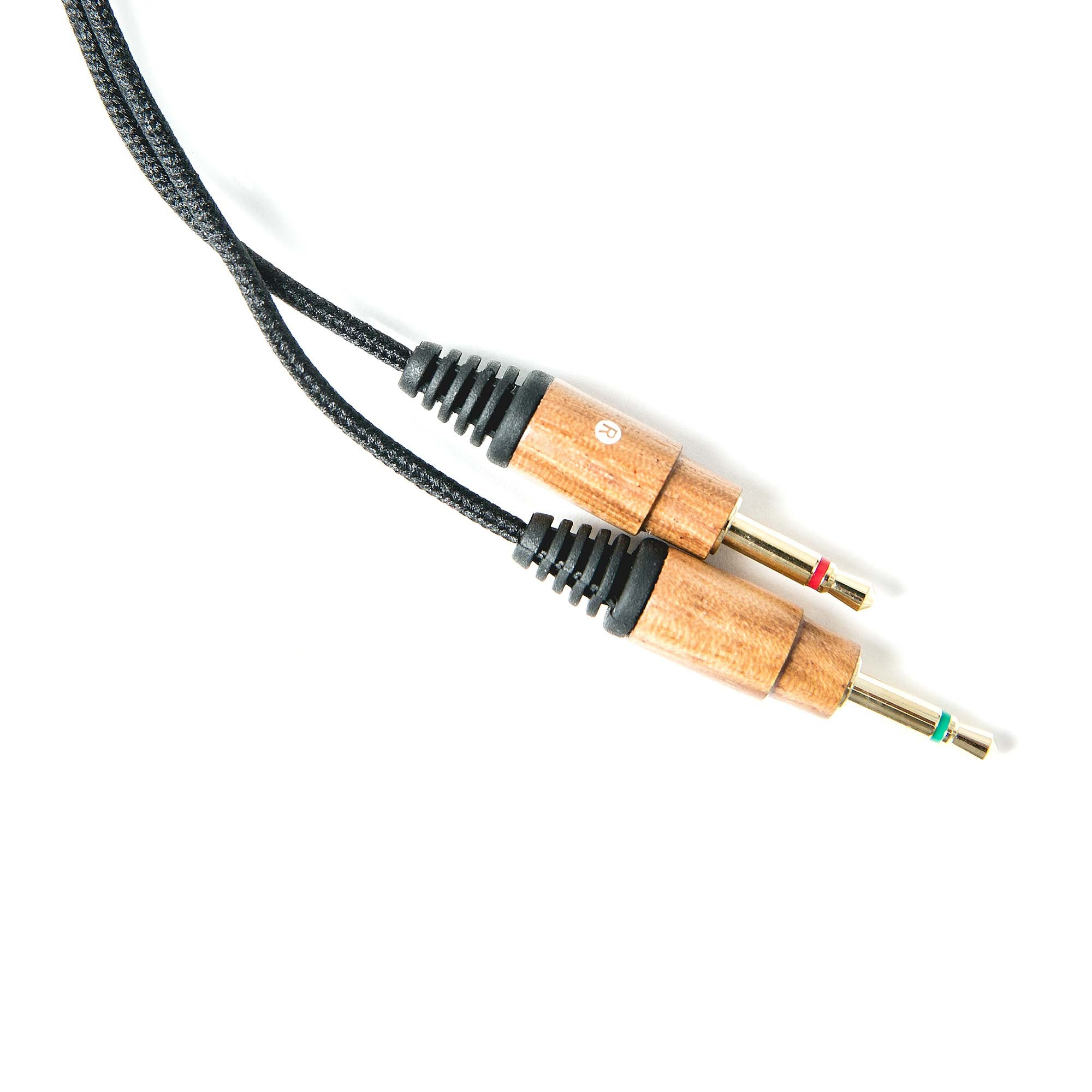 Nylon Replacement Cables w/ Volume Control - Zebra Wood
