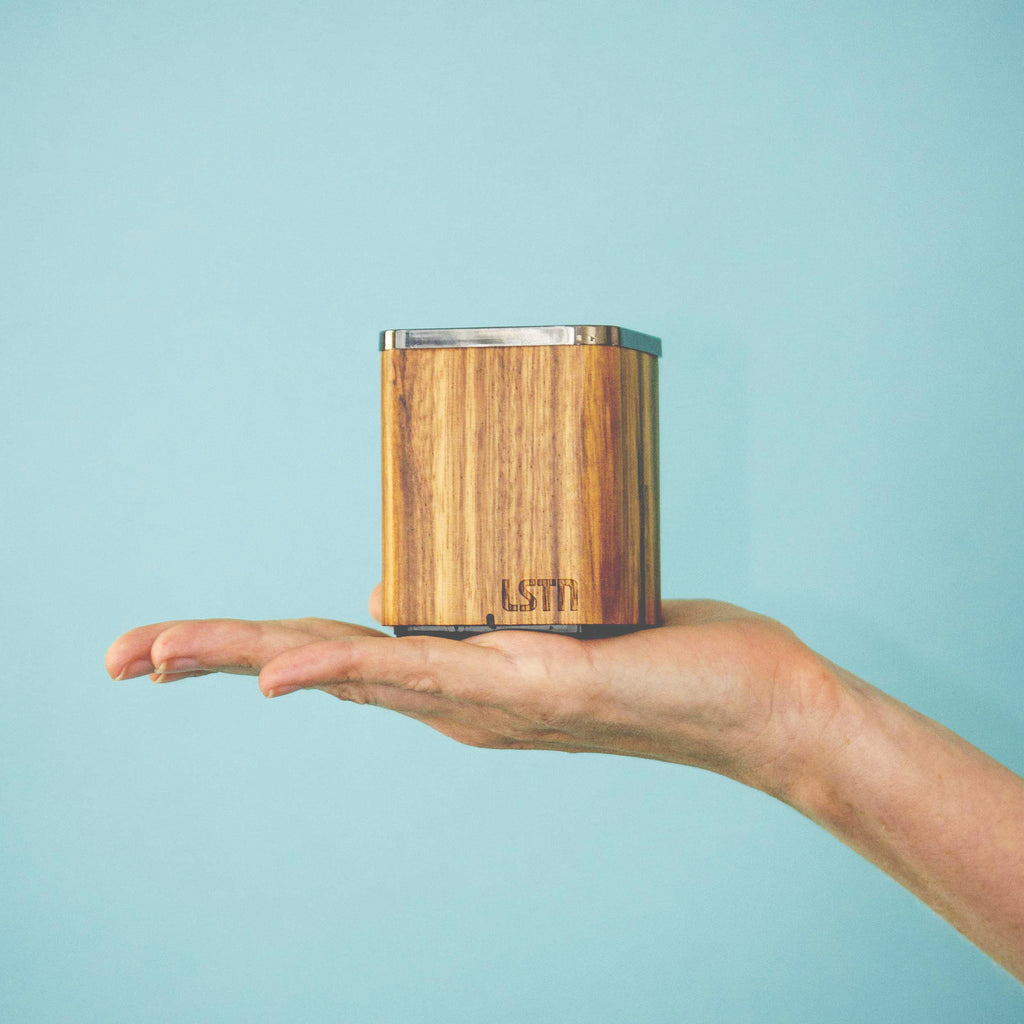 Zebra Wood Satellite Bluetooth Speaker