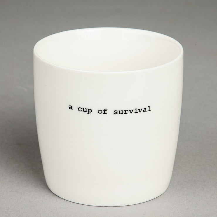 Krus Hvit «Cup of survival»