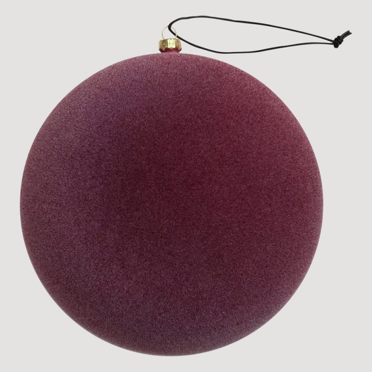 Velvety Ornament – Burgundy