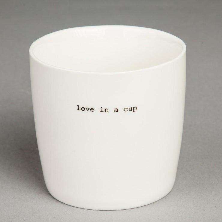 Krus Hvit «Love in a cup»