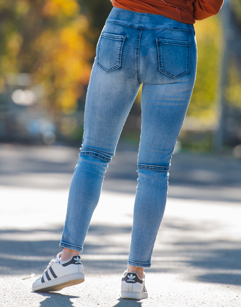 Wakee Denim Biker Jeggings
