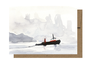 Tugboat Watercolor Card WC209