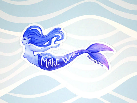 Make Waves Mermaid Sticker ST825