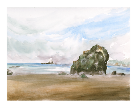 Ruby Beach Art Print