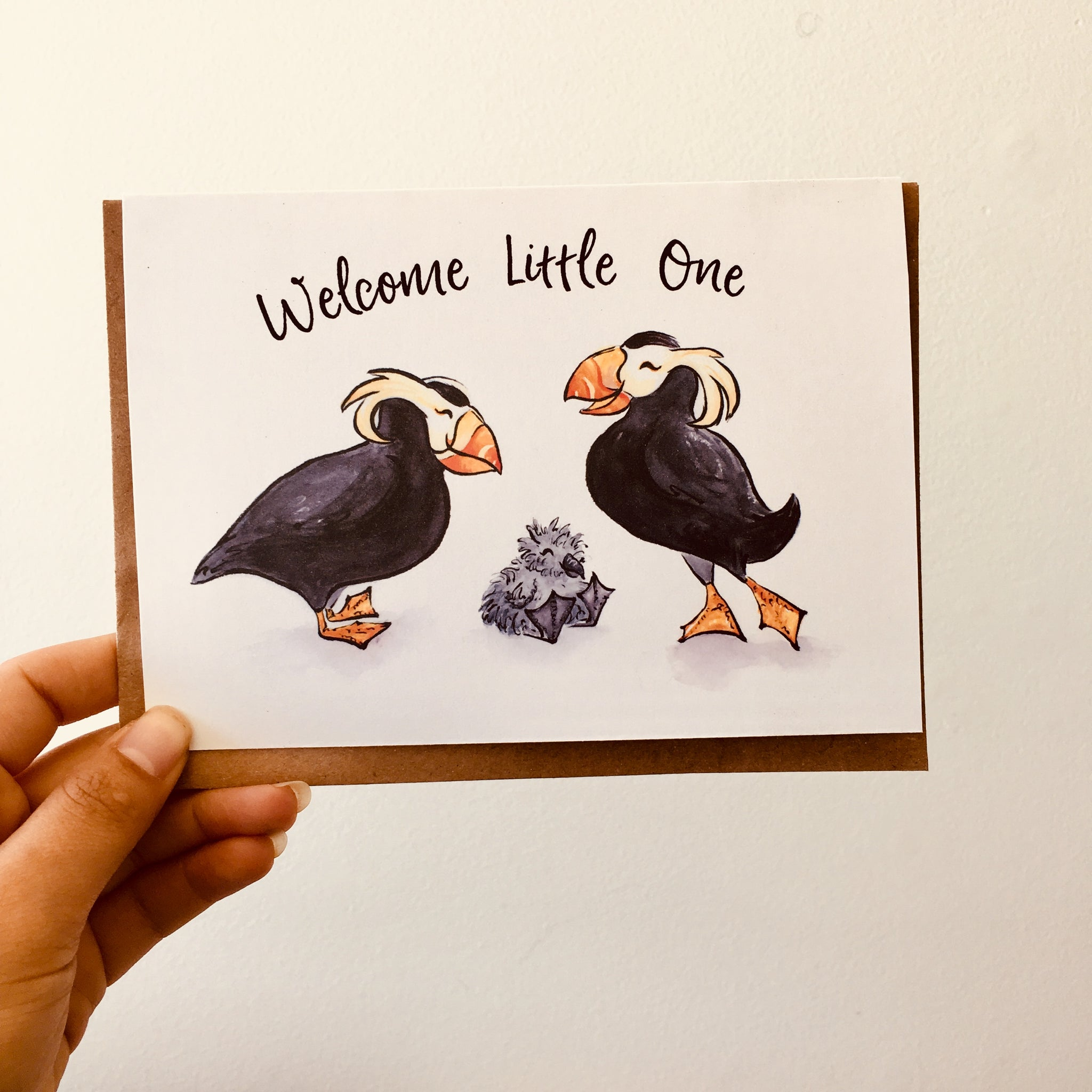 Welcome Little One Tufted Puffin Card C108