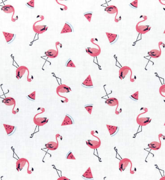 Flamingoes & Watermelons Cotton Mask