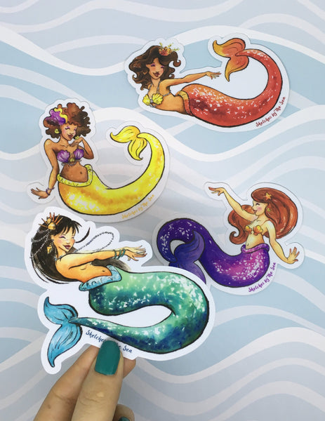 Jade Mermaid Sticker ST823