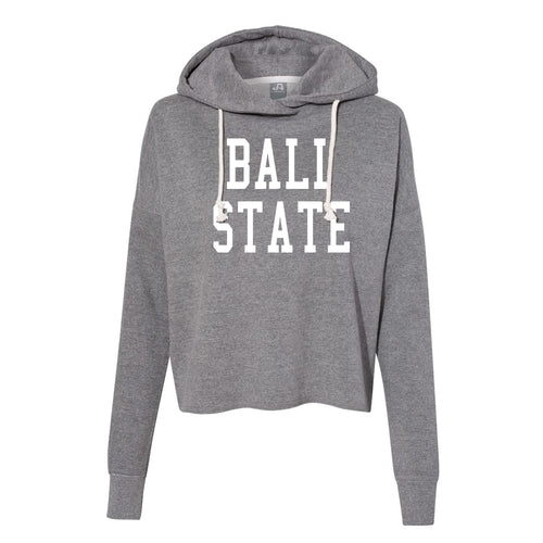 Ladies Throw Back Lounge Fleece - Heather Grey