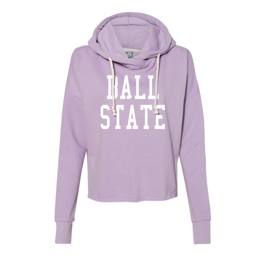 Ladies Throw Back Lounge Fleece - Light Purple