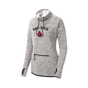 Ball State Ladies Cowl Neck Pullover