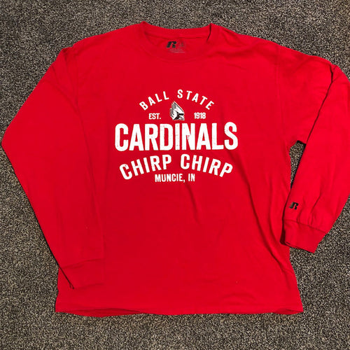 Ball State Long Sleeve Chirp Tee - Size: Large