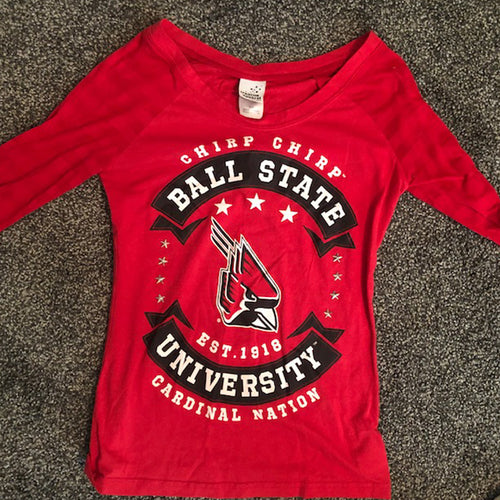 Ladies BSU Fashion Long Sleeve - Size: Small
