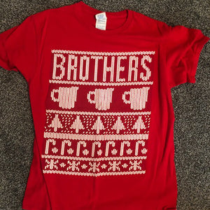 BSU Brothers Ugly Christmas Tee - Size: Medium