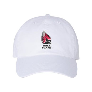 Champion - Ball State White Dad's Cap