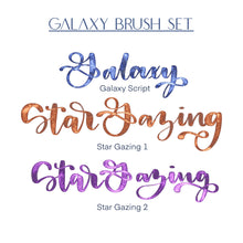Load image into Gallery viewer, Galaxy Script Procreate Brush Pack