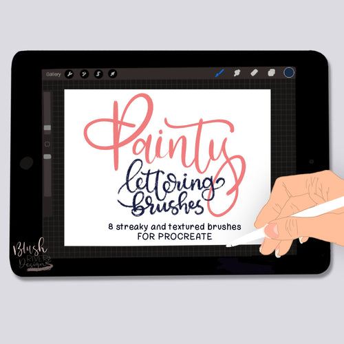 Painty Lettering Procreate Brushes