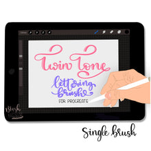 Load image into Gallery viewer, Twin Tone Script Procreate Brush