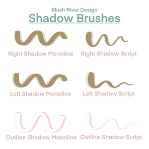 Shadow Procreate Lettering Brushes