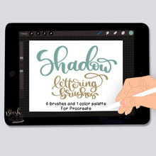 Load image into Gallery viewer, Shadow Procreate Lettering Brushes