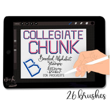 Load image into Gallery viewer, Collegiate Chunk ABC Stamps for Procreate