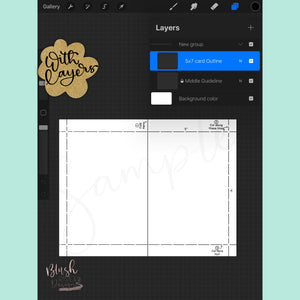 "5"" x 7"" Procreate Card Template"