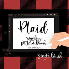 Load image into Gallery viewer, Plaid Seamless Pattern Procreate Brush