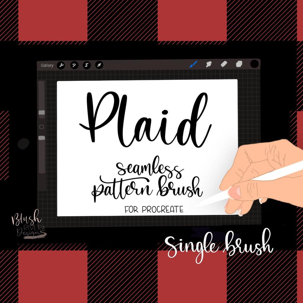 Plaid Seamless Pattern Procreate Brush