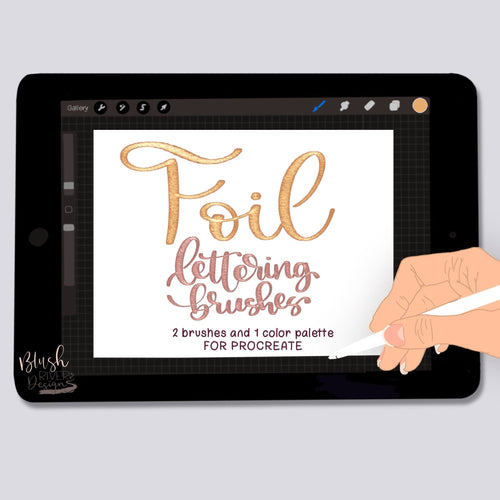 Foil Script Procreate Brush