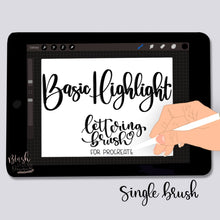 Load image into Gallery viewer, Basic Highlight Procreate Brush