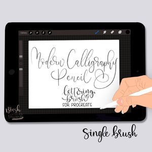 Modern Calligraphy Pencil Procreate Brush