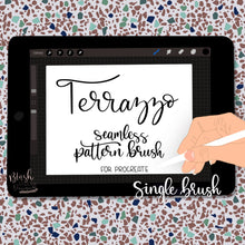 Load image into Gallery viewer, Terrazzo Seamless Pattern Procreate Brush