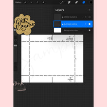 "Load image into Gallery viewer, 4""x6"" Procreate Card Template"