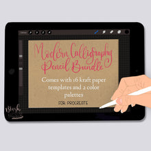 Load image into Gallery viewer, Modern Calligraphy Pencil Procreate Brush Bundle