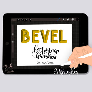 Bevel Letter Procreate Brush