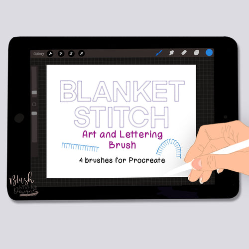 Blanket Stitch Art and Lettering Procreate Brushes