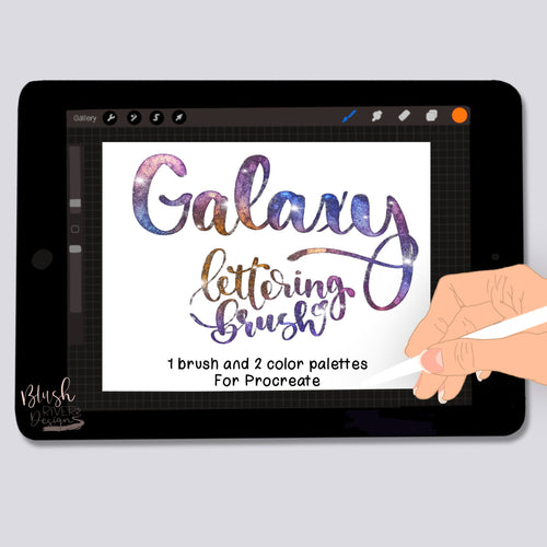 Galaxy Script Procreate Brush Pack