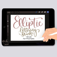 Load image into Gallery viewer, Elliptic Script Procreate Brush