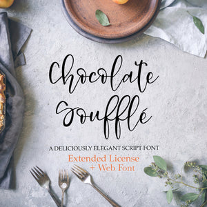 Chocolate Soufflé Font - OTF, TTF and Web Font Files