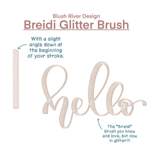 Breidi Glitter Script Procreate Brush