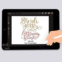 Load image into Gallery viewer, Breidi Glitter Script Procreate Brush