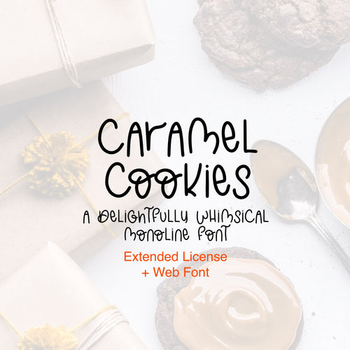 Caramel Cookies Font - OTF, TTF and Web Font Files
