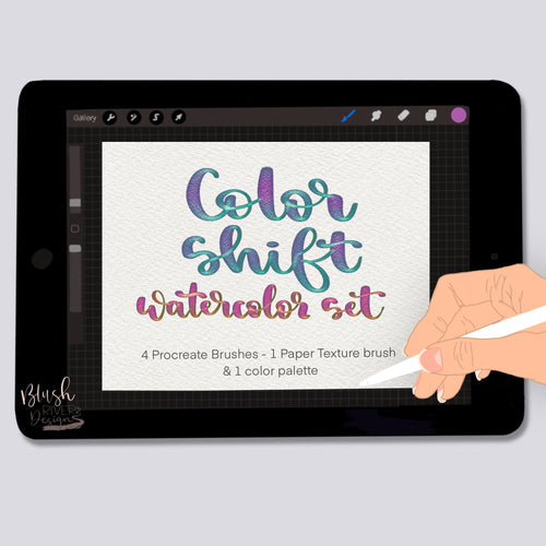 Color Shift Watercolor Procreate Brushes