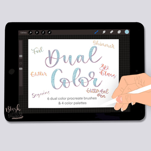 Dual Color Script Procreate Brush Pack