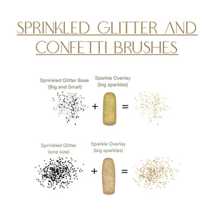 Sprinkled Glitter and Confetti Procreate Brush Set